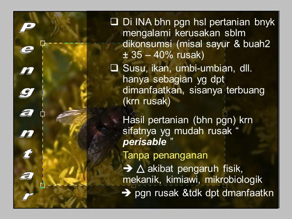 b) Vitamin Vitamin Larut Lemak (ADEK) Relatif stabil slm pemanasan dibanding vit larut air.