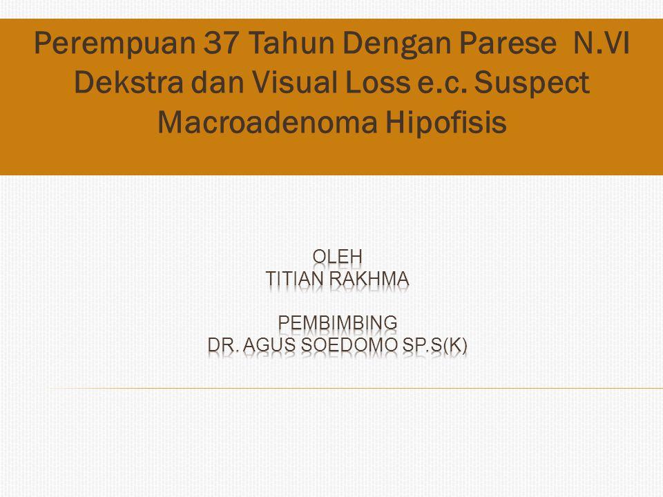 Perempuan 37 Tahun Dengan Parese N.VI Dekstra dan Visual Loss e.c. Suspect Macroadenoma Hipofisis