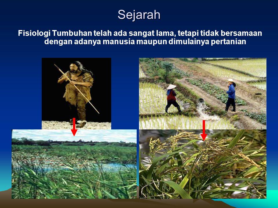 Sejarah Fisiologi Tumbuhan telah ada sangat lama, tetapi tidak bersamaan dengan adanya manusia maupun dimulainya pertanian