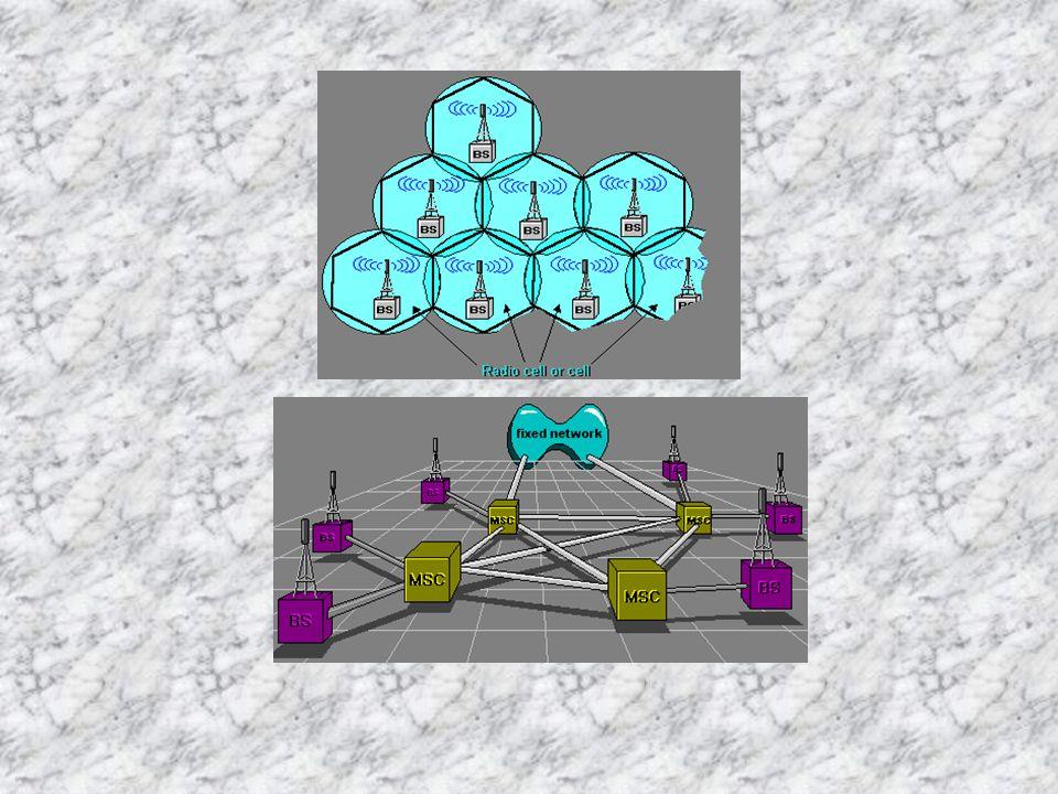 Jaringan radio bergerak seluler digital Layanan area terkecilnya disebut radio cells.
