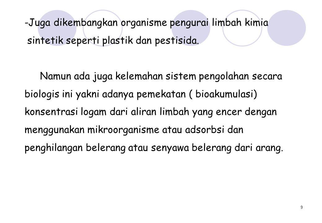 10 ORGANISME PENGURAI AIR LIMBAH 1.Bakteri 2. Kapang 3.
