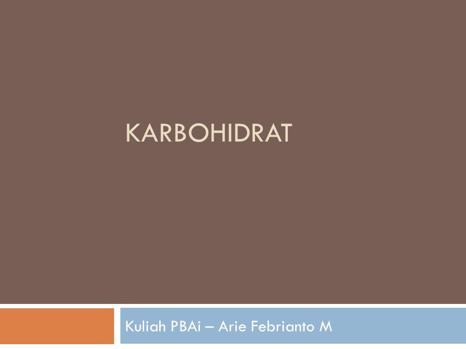 KARBOHIDRAT Kuliah PBAi – Arie Febrianto M