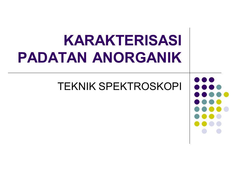KARAKTERISASI PADATAN ANORGANIK TEKNIK SPEKTROSKOPI