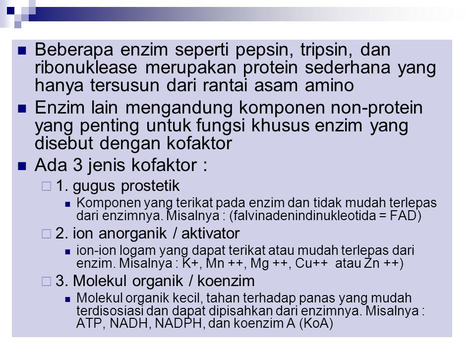 Enzim adalah suatu protein yang ikut berperan dan mempengaruhi rekasi biokimiawi yang terjadi pada makhluk hidup Enzim berasal dari kata Yunani (en =