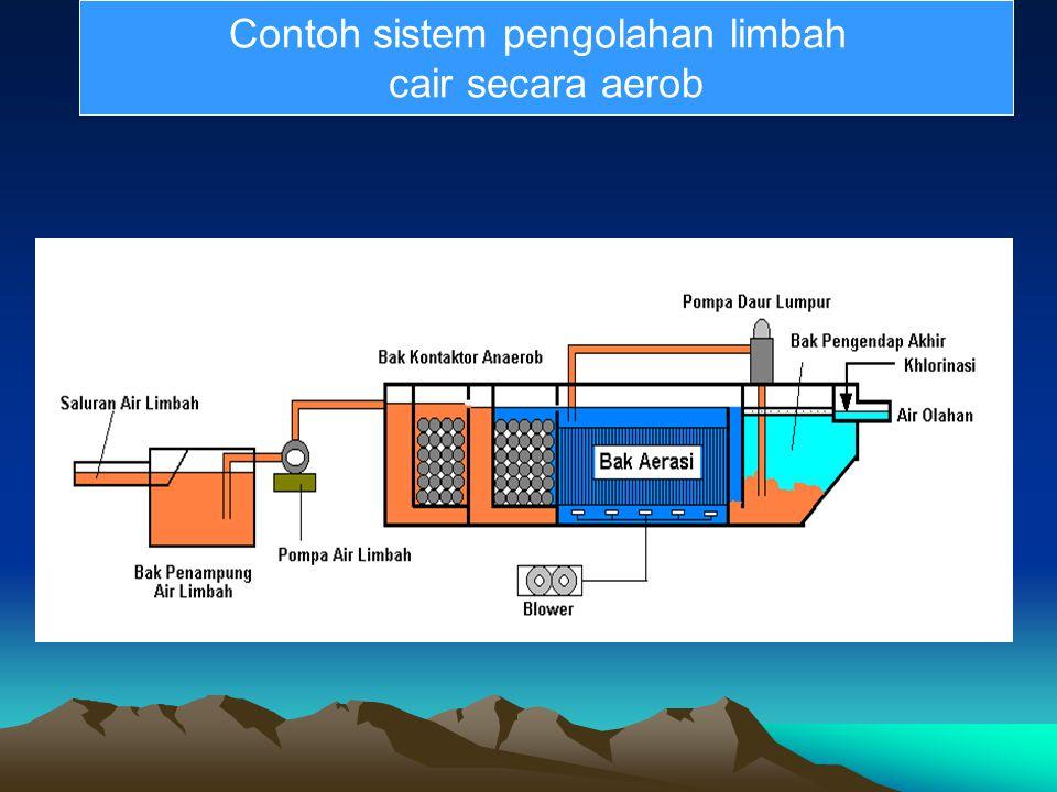 . Contoh sistem pengolahan limbah cair secara aerob