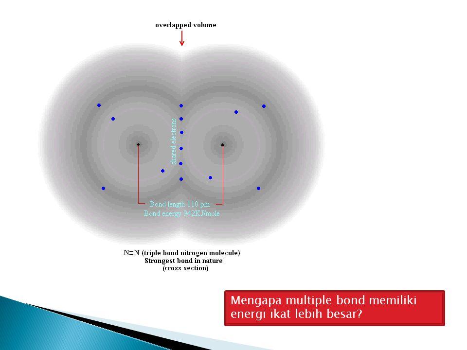 Mengapa multiple bond memiliki energi ikat lebih besar?