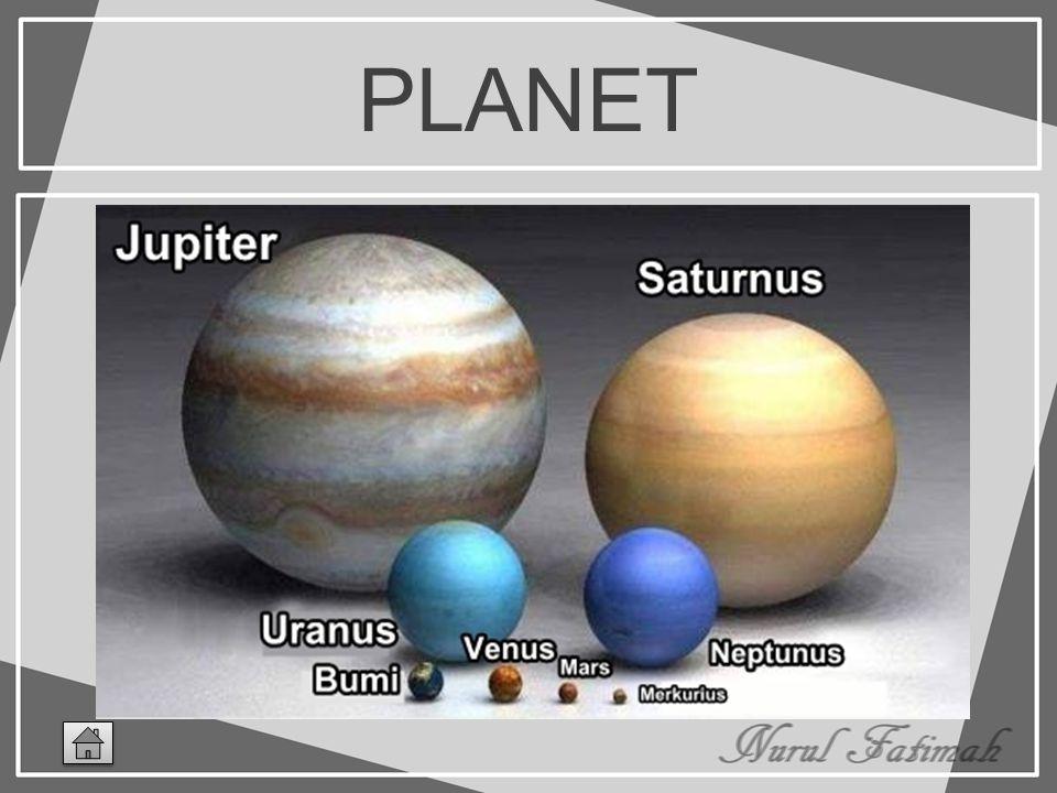 PLANET Planet merupakan benda gelap yang dapat dilihat karena karena sebagian sinar matahari yang dipantulkan oleh planet mengenai mata kita. Ada dela