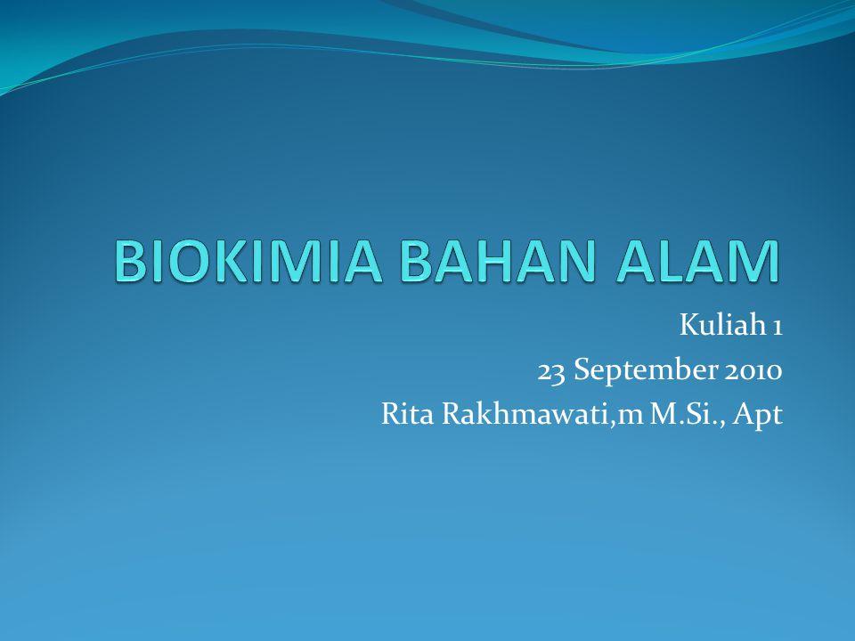 Kuliah 1 23 September 2010 Rita Rakhmawati,m M.Si., Apt