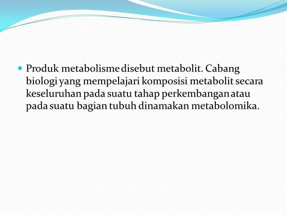 Produk metabolisme disebut metabolit.