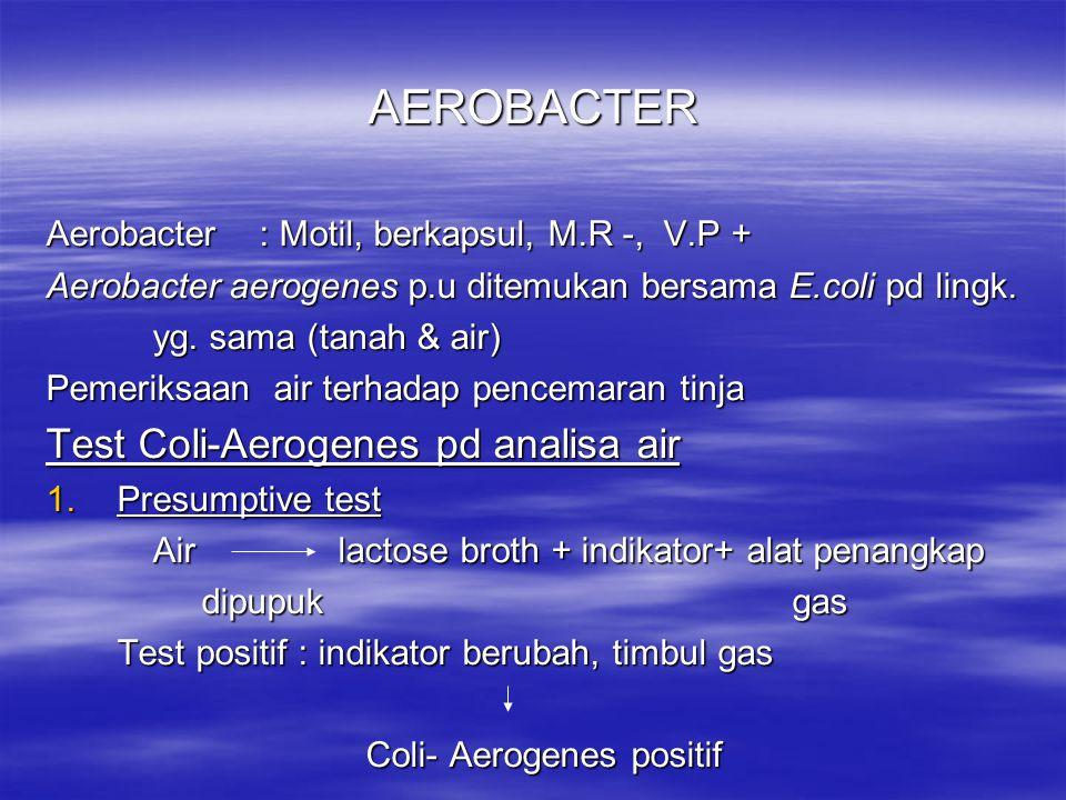DAYA TAHAN: Peka thd desinfektan & panas SIFAT BIOKIMIA: Memecah K.H Asam Mereduksi Nitrat Nitrit Mengasamkan & mengkoagulasikan susu KEGANASAN: Patogen pd kuda nekrose, arthritis, glomerulo nephritis, septicaemia,per- nanahan DIAGNOSA: Isolasi & identifikasi Shigella pfaffi burung kenari : enteritis Shigella rettgeri anak ayam : gejala = Fowl cholera