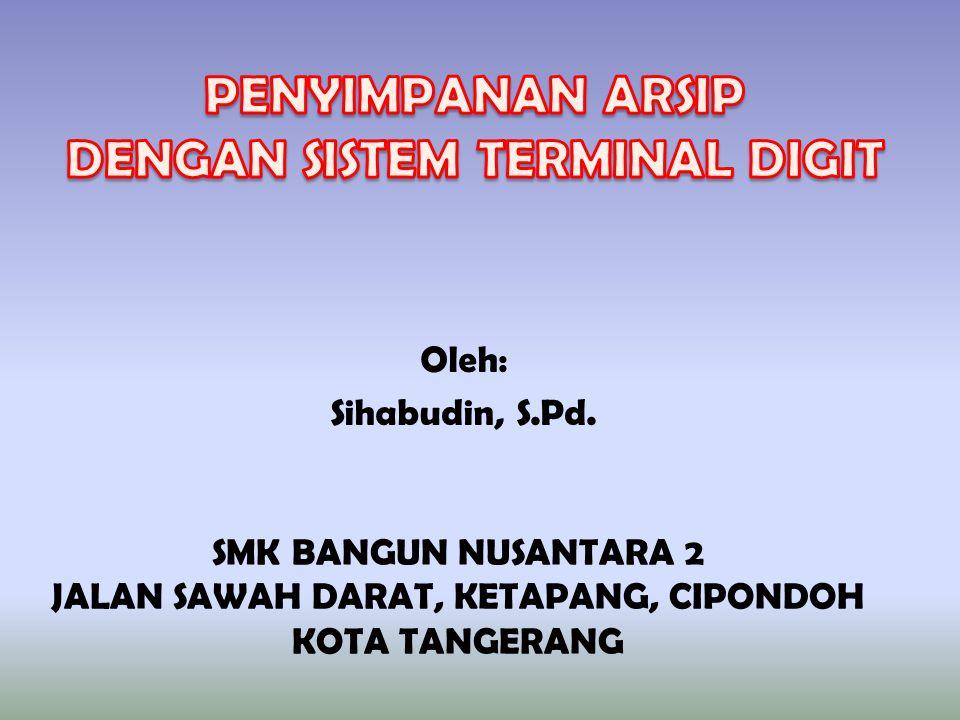 Oleh: Sihabudin, S.Pd. SMK BANGUN NUSANTARA 2 JALAN SAWAH DARAT, KETAPANG, CIPONDOH KOTA TANGERANG