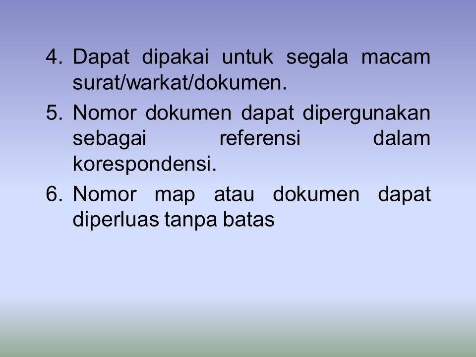 4.Dapat dipakai untuk segala macam surat/warkat/dokumen.