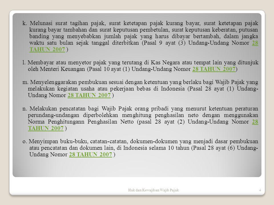Hak dan Kewajiban Wajib Pajak5 p.