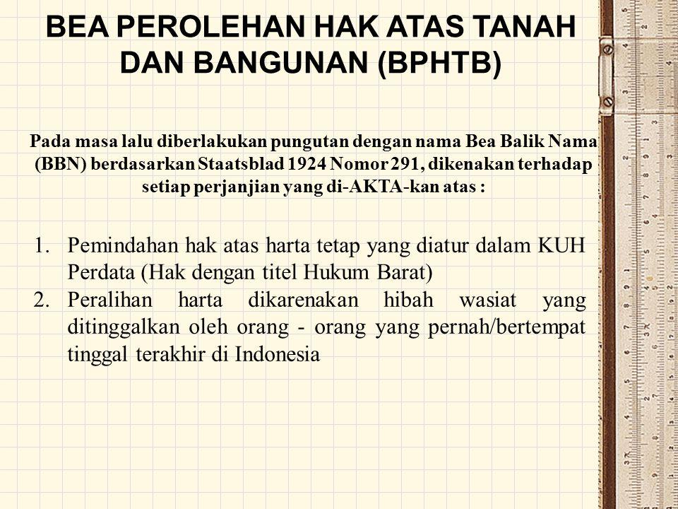 DUALISME HUKUM PERTANAHAN DI INDONESIA 1.Hak atas harta tetap dengan titel Hukum Barat, diatur dalam KUH Perdata 2.Hak atas harta tetap Orang Indonesia Asli/Hak Pribumi, diatur dalam Hukum Adat tiap daerah.