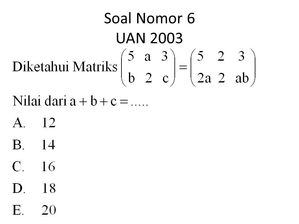 Soal Nomor 6 UAN 2003