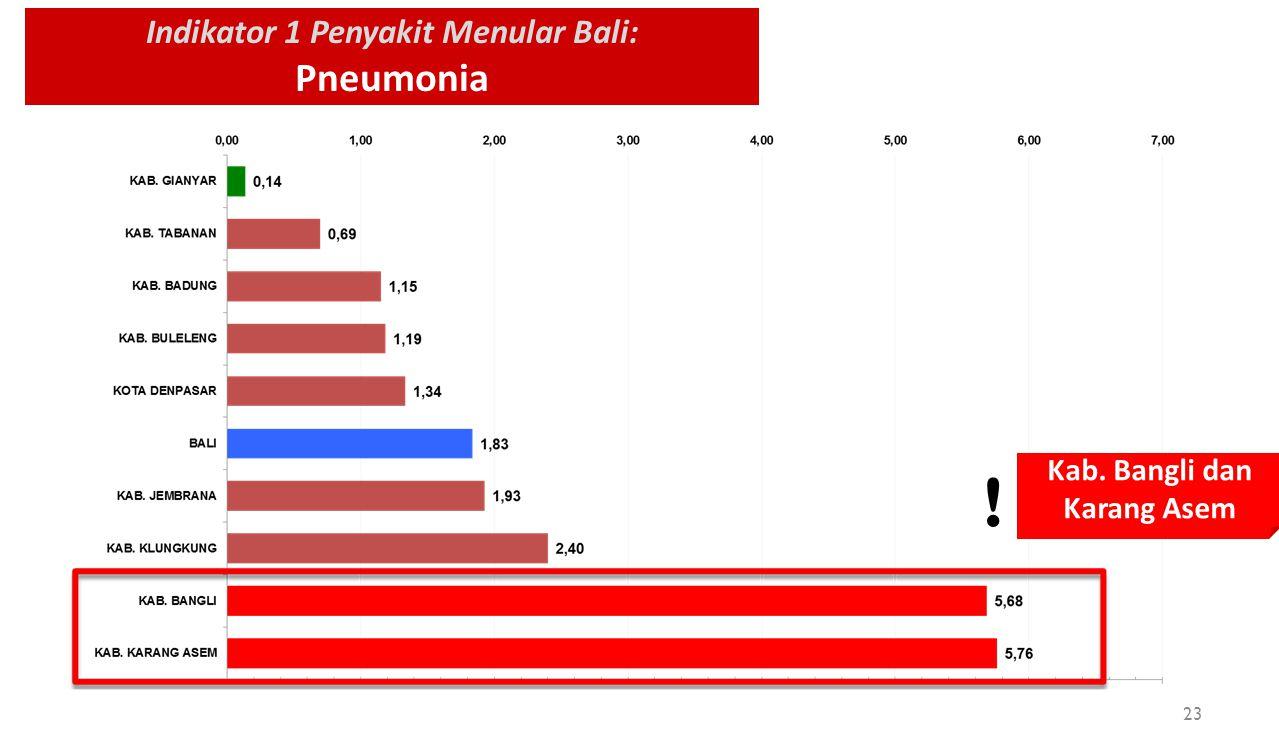 Indikator 1 Penyakit Menular Bali: Pneumonia Kab. Bangli dan Karang Asem ! 23
