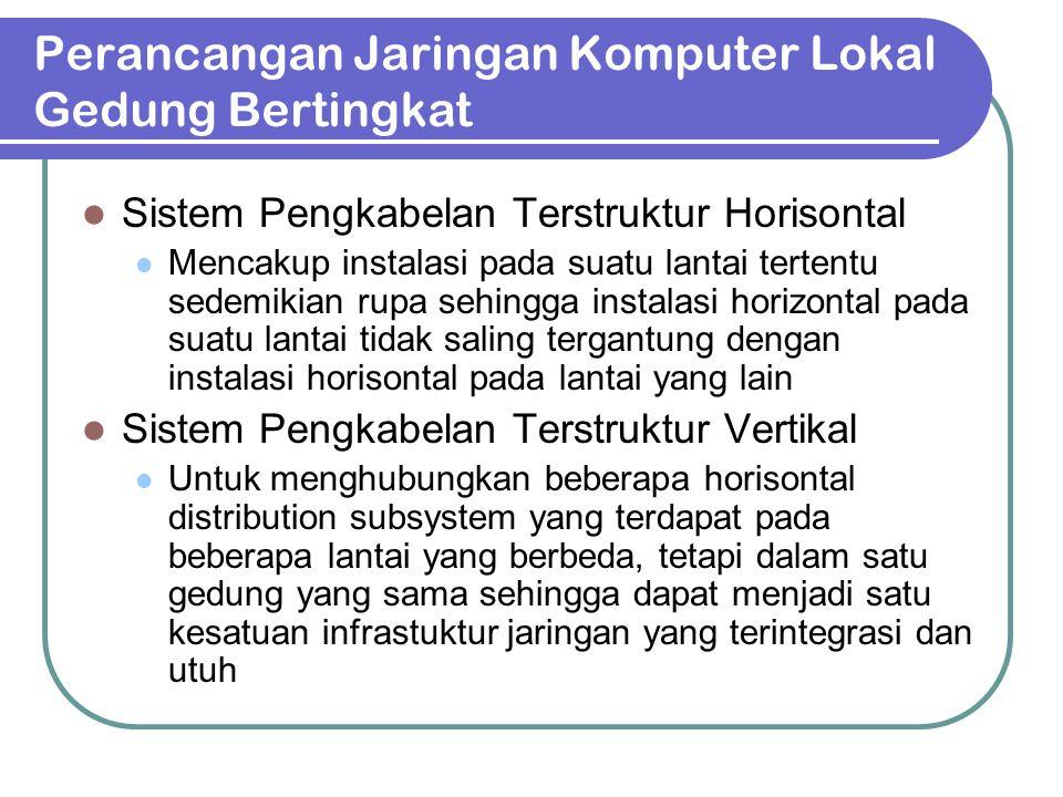 Perancangan LAN pada bangunan satu lantai