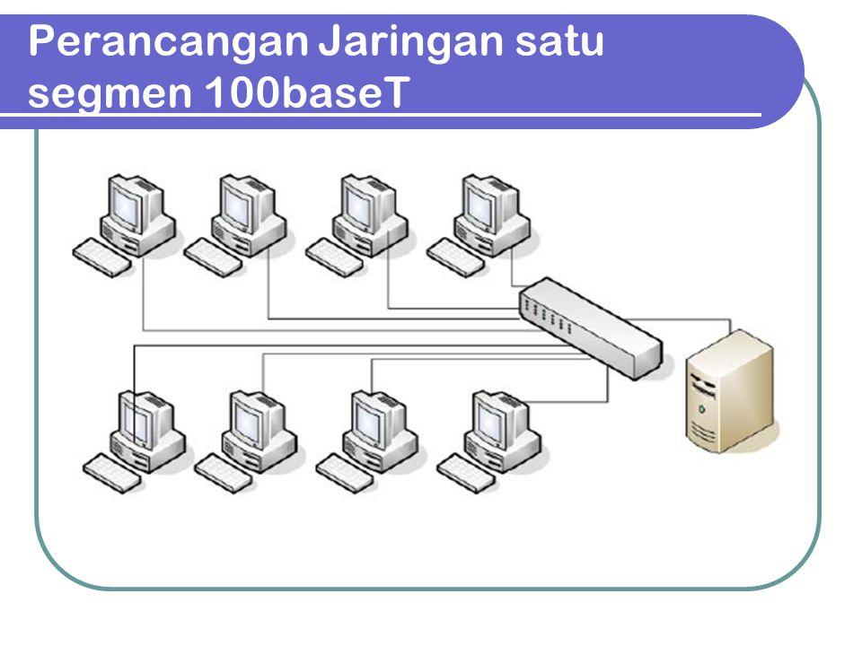 Perancangan jaringan banyak segmen 100baseT