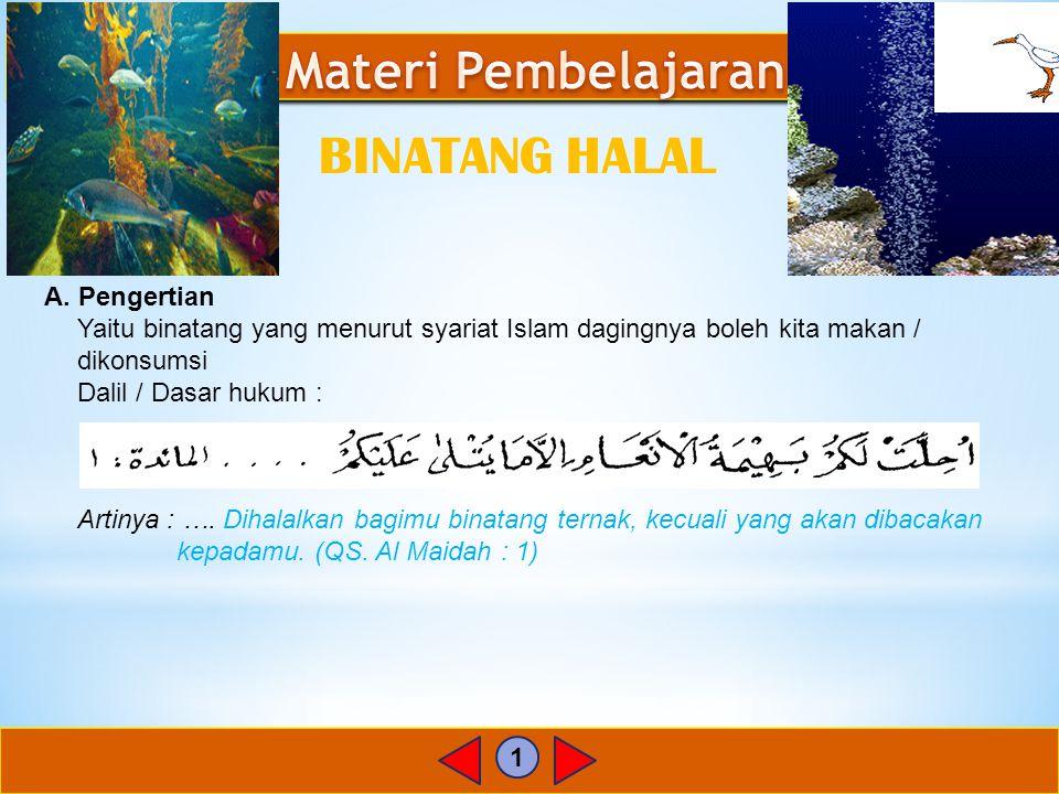 2 B.Macam-macam binatang halal 1.