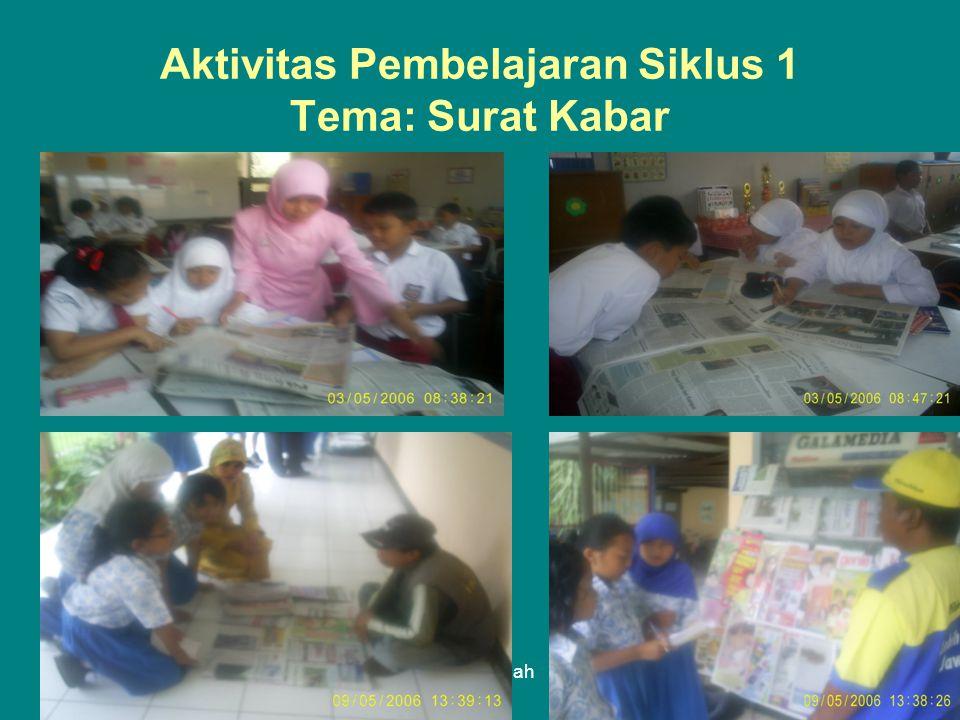 Lely Halimah Aktivitas Pembelajaran Siklus 1 Tema: Surat Kabar