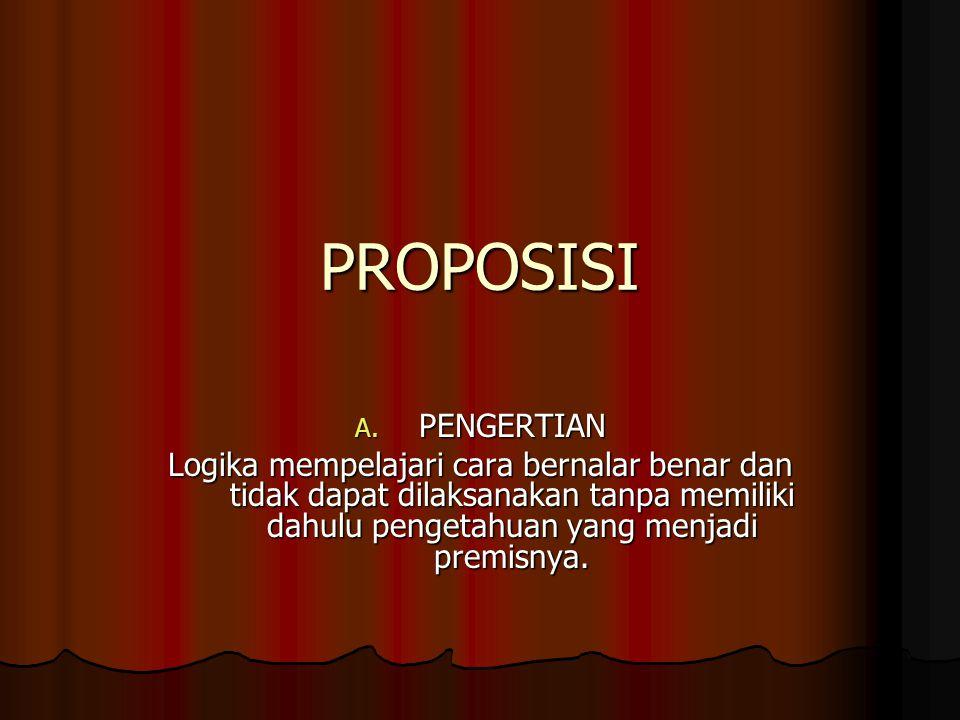 PROPOSISI A.