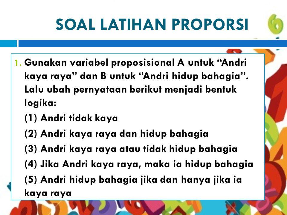 SOAL LATIHAN PROPORSI 1.