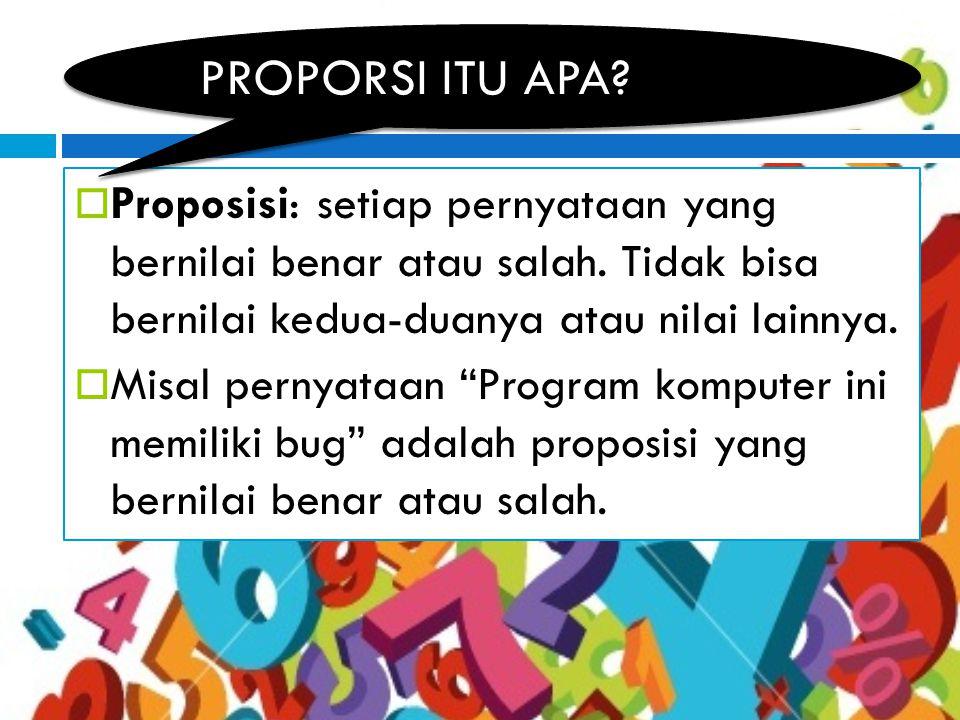 Misalkan P(p,q,…) dan Q(p,q,….)adalah proposisi.
