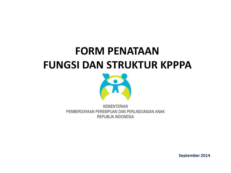 FORM PENATAAN FUNGSI DAN STRUKTUR KPPPA September 2014