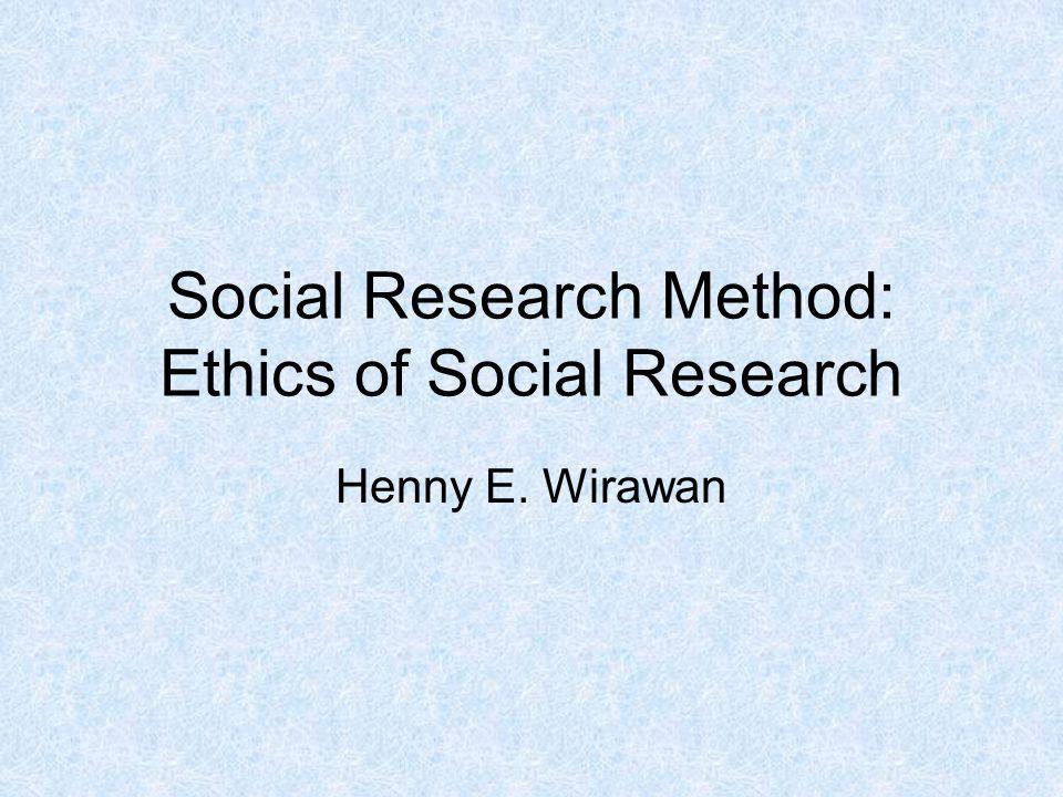 Kode moral pribadi peneliti adalah pertahanan terbaik dalam menghadapi perilaku tidak etis.
