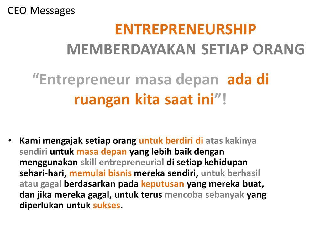 Entrepreneurship entrepreneur adalah orang yang memiliki usaha, perusahaan atau ide dan menggunakan sistem akuntabilitas dalam menjalakannya dengan mempertimbangkan resiko dan untuk memperoleh hasil yang diinginkan.