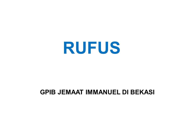 RUFUS GPIB JEMAAT IMMANUEL DI BEKASI