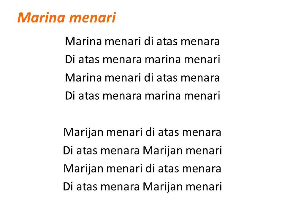 Marina menari Marina menari di atas menara Di atas menara marina menari Marina menari di atas menara Di atas menara marina menari Marijan menari di at