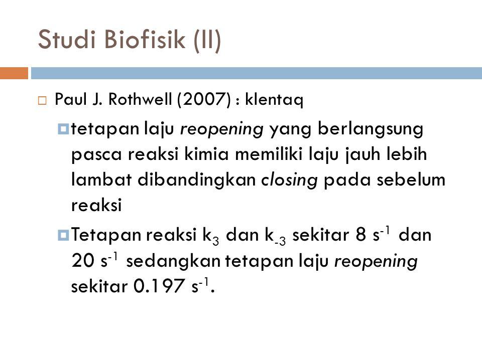 Studi Biofisik (II)  Paul J.