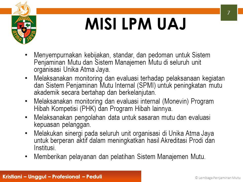 Kristiani – Unggul – Profesional – Peduli © Rektor Unika Atma Jaya KKNI 48