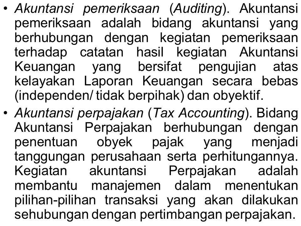 Akuntansi pemeriksaan (Auditing).
