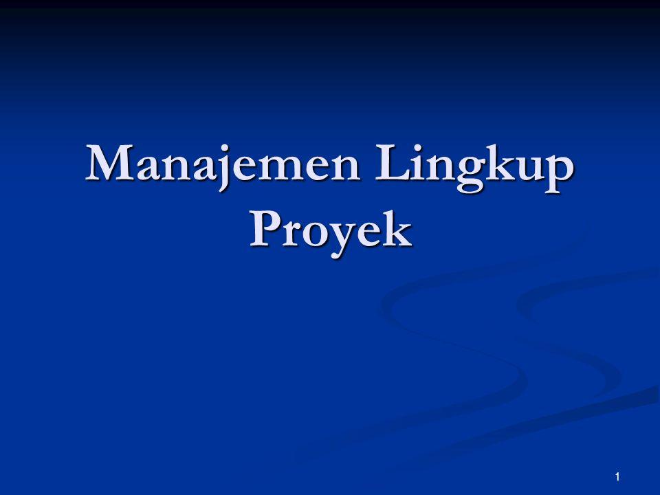1 Manajemen Lingkup Proyek