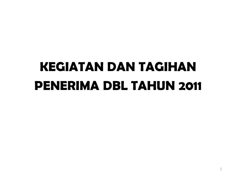 KEGIATAN DAN TAGIHAN PENERIMA DBL TAHUN 2011 1