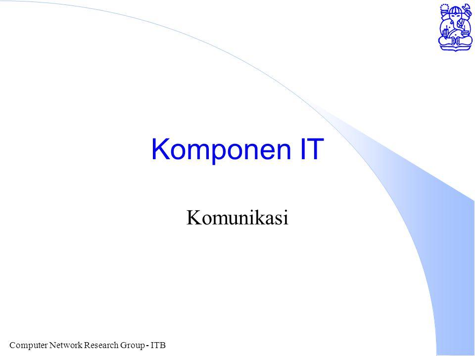 Computer Network Research Group - ITB Ujicoba MBONE di Indonesia l ITB sudah menjalankan MBONE dalam jaringannya.
