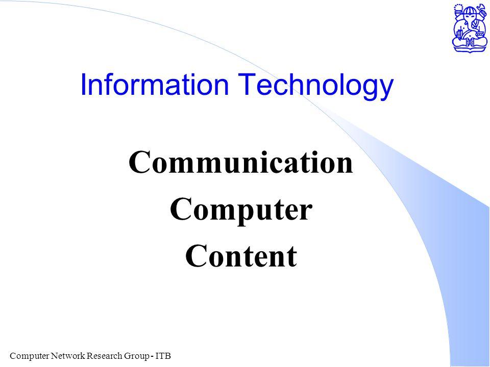 Computer Network Research Group - ITB Teknologi Komunikasi l Wireless Wide Area Network l Wireless Data Network l Teknologi HDSL & sebangsanya.