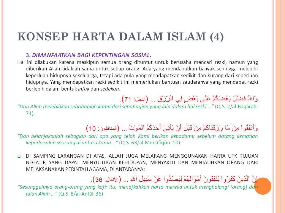 KONSEP HARTA DALAM ISLAM (3) 2.