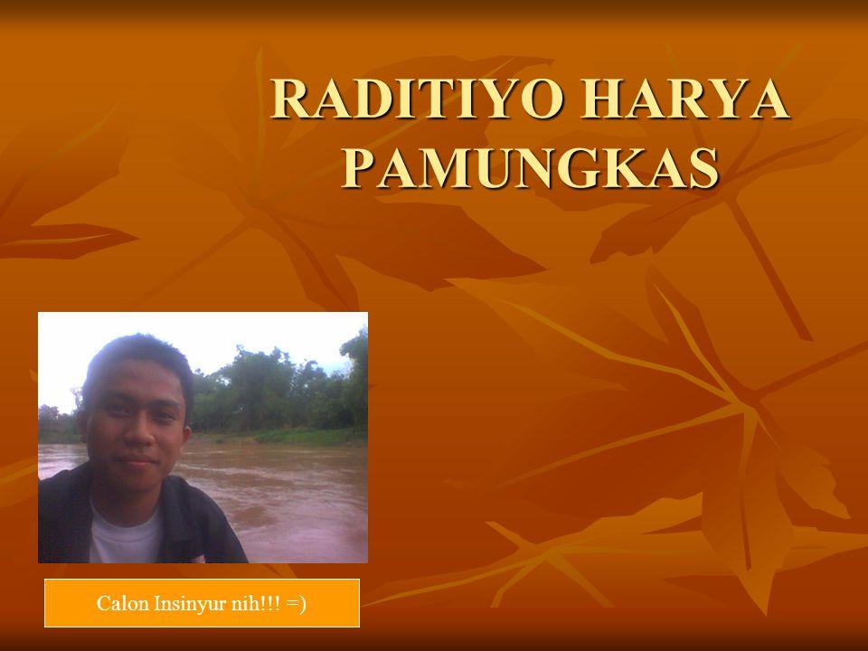 RADITIYO HARYA PAMUNGKAS Calon Insinyur nih!!! =)