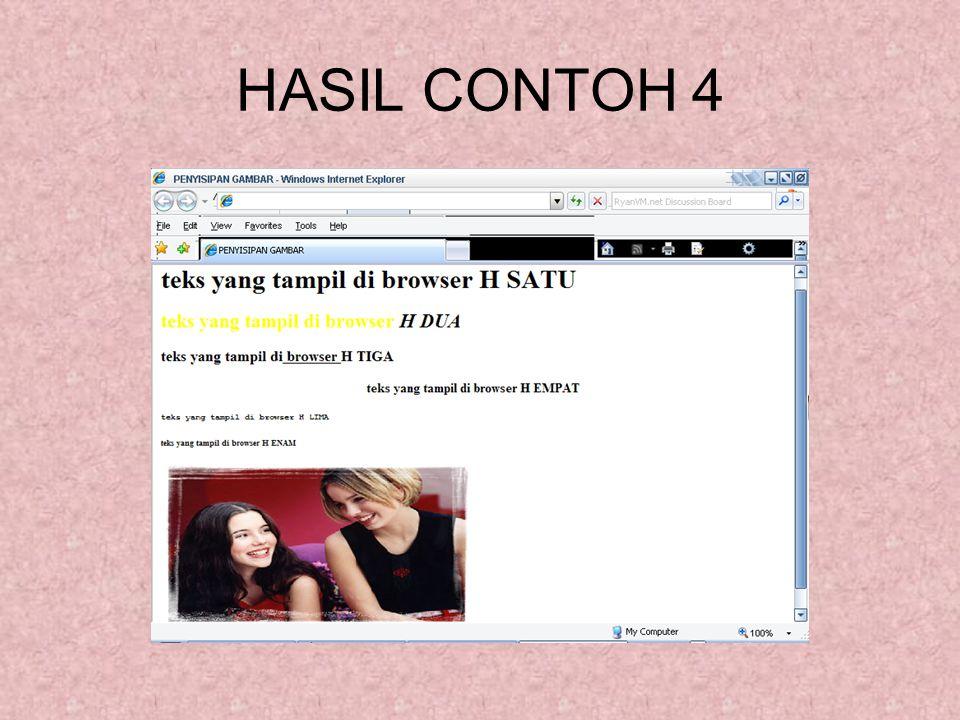 HASIL CONTOH 4
