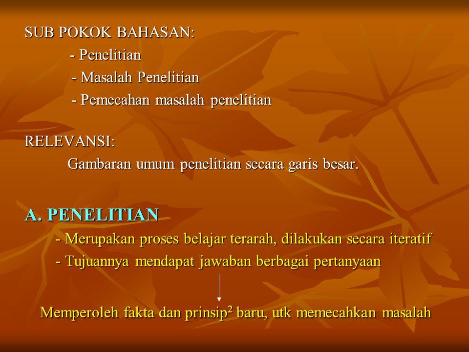 B.MASALAH PENELITIAN B.