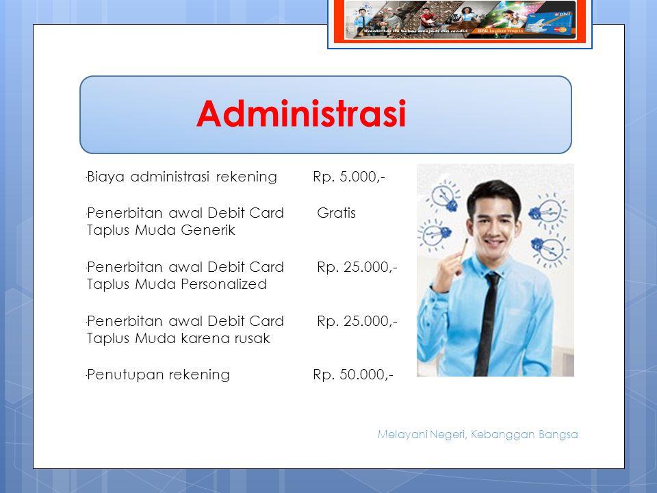 BIODATA -Biaya administrasi rekeningRp.
