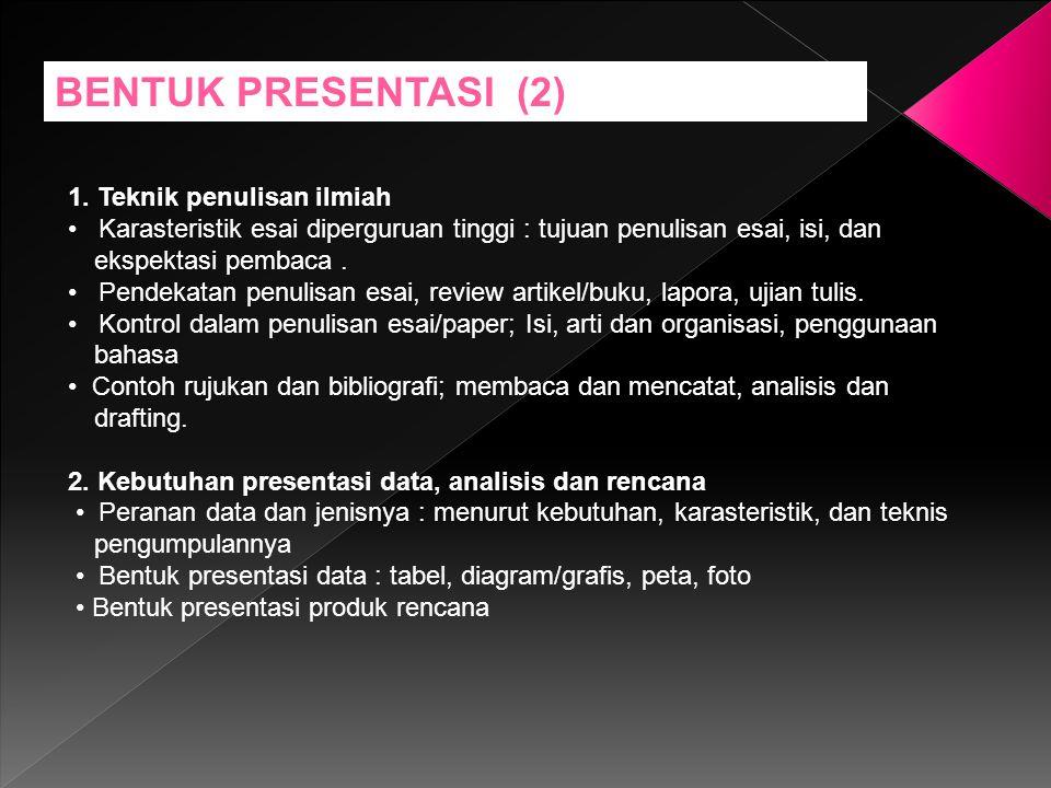Tehnik Presentasi dan Komunikasi Mencakup 3.