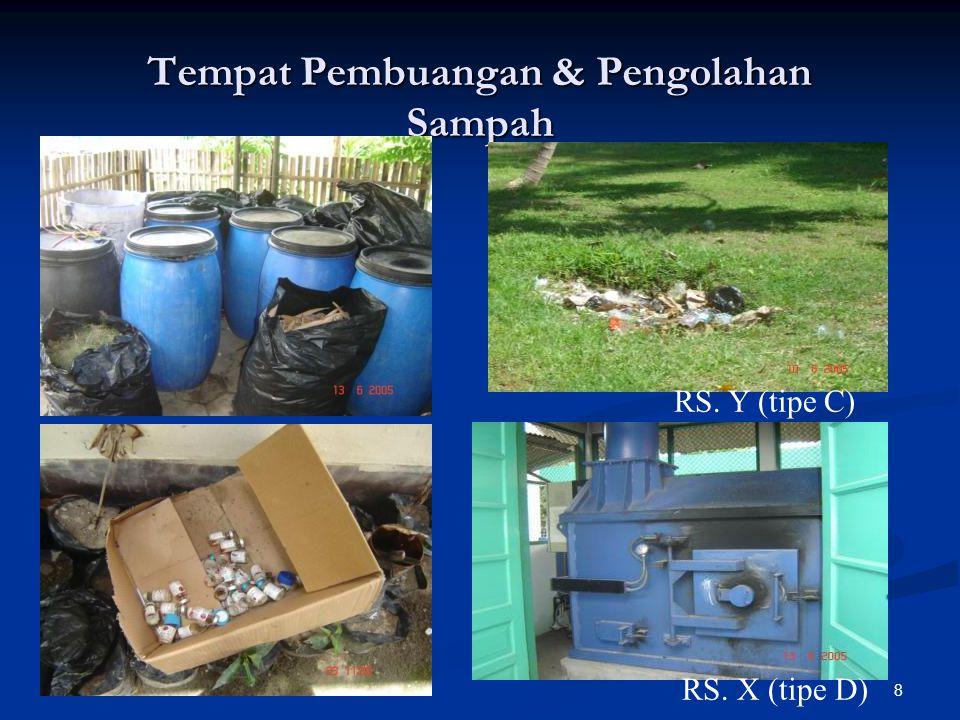 Tempat Pembuangan & Pengolahan Sampah RS. X (tipe D) RS. Y (tipe C) 8