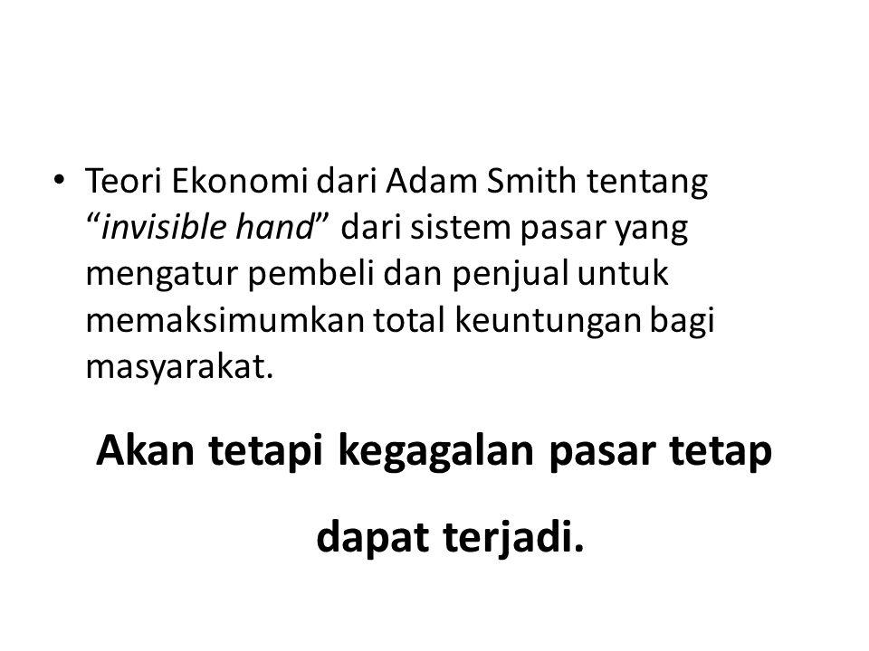 """Teori Ekonomi dari Adam Smith tentang """"invisible hand"""" dari sistem pasar yang mengatur pembeli dan penjual untuk memaksimumkan total keuntungan bagi m"""