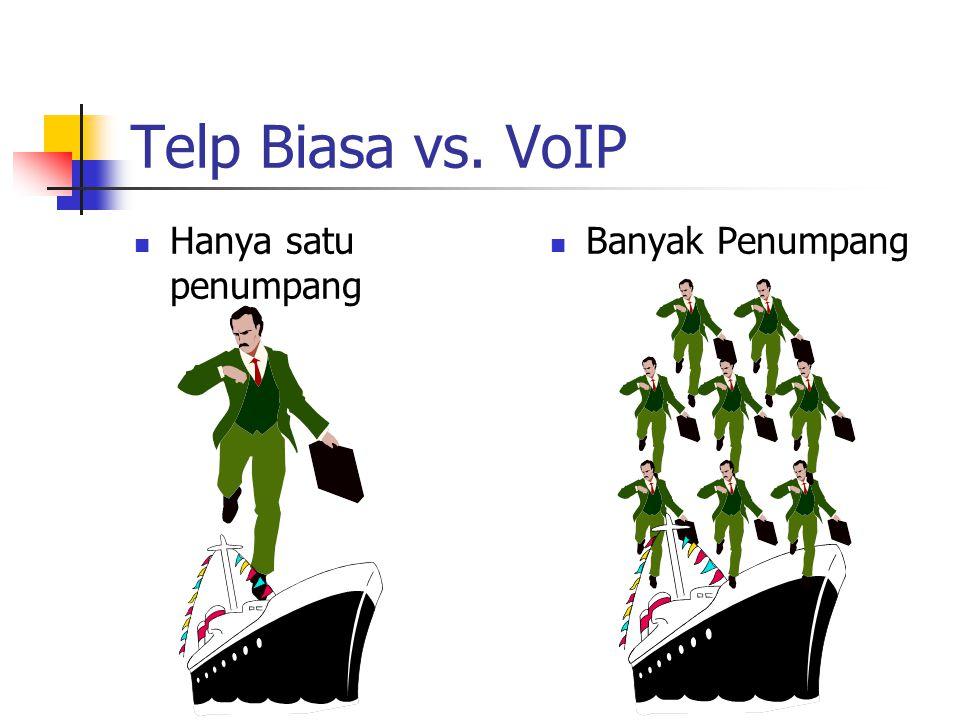 Telp Biasa vs. VoIP Hanya satu penumpang Banyak Penumpang