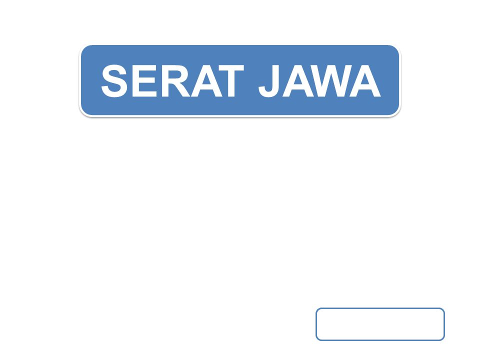 SERAT JAWA