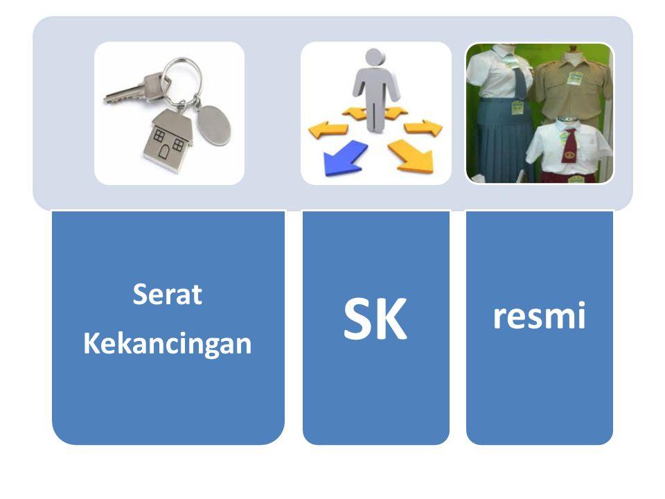 Serat Kekancingan SK resmi